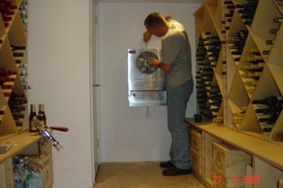 Wine Cellar Cooler Install by MD